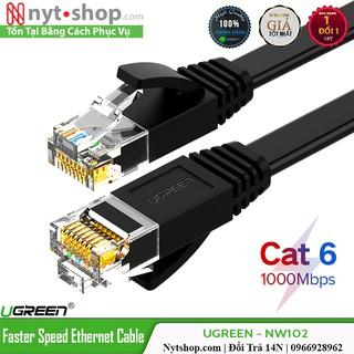 Cáp mạng đúc sẵn Cat6 UTP dây dẹp cao cấp hỗ trợ tốc độ cao lên đến 1000Mbps thumbnail
