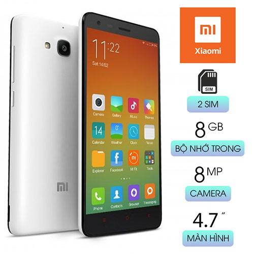 Điện thoại Xiaomi Redmi 2 Ram 1G Bộ Nhớ 8G Có 3G Wifi Chơi Game Mạnh Liên Quân Pubg