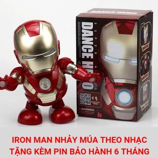 Đồ Chơi Robot Iron Man Nhảy Múa Siêu Đáng Yêu Cho Bé Trai