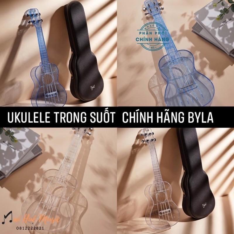 Đàn UKULELE TRONG SUỐT - size concert chính hãng Byla