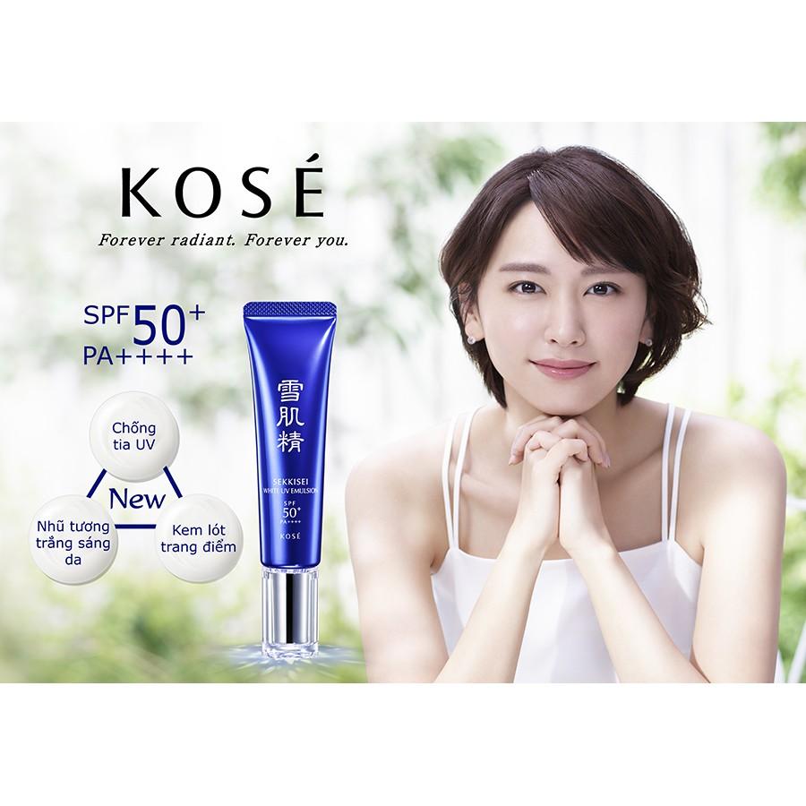 Nhũ tương làm trắng sáng da Sekkisei White UV Emulsion SPF50+/PA++++