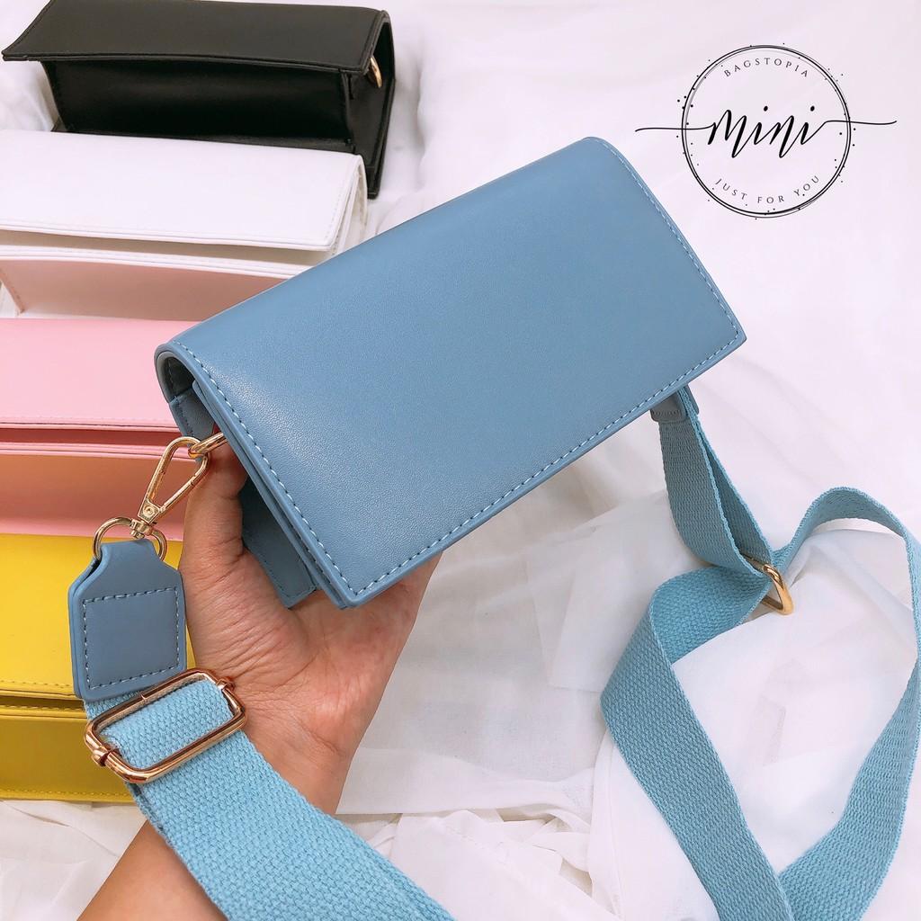 [Siêu Phẩm- Hàng Độc Quyền][Vừa 7pl]Túi Mini Bags Dáng Chữ Nhật Dây Bảng To Siêu Hot 2019