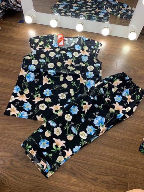 Bộ lanh già quần lửng cho các bà TTL75150