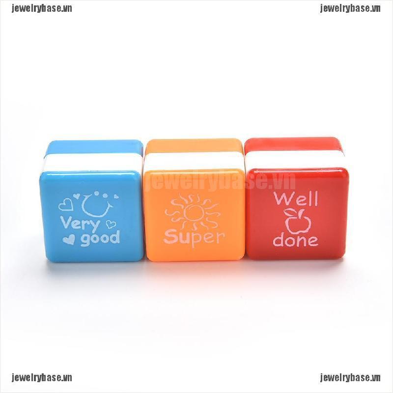 [jewelry] 1pc Teachers Self Inking Stamper Reward Stamps Praise Motivation Sticker School [basevn]