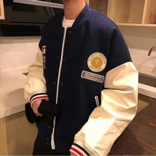 Jacket Unisex New Korean version ins Harajuku style loose thick baseball uniform jacket long sleeve Jacket