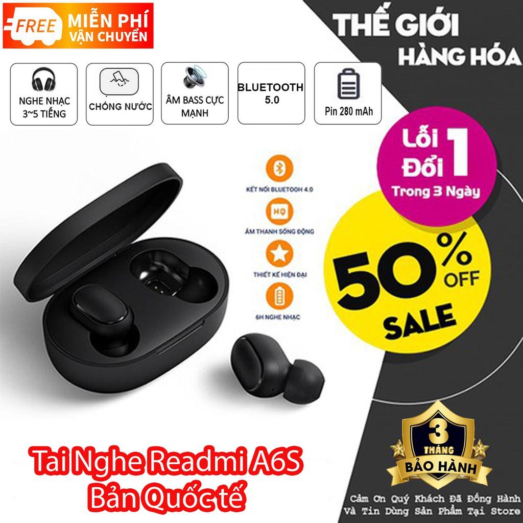 Tai nghe Bluetooth Airdots A6S Chống ồn, Chống Nước, Bass Cực Mạnh, Công Nghệ 5.0 Mới