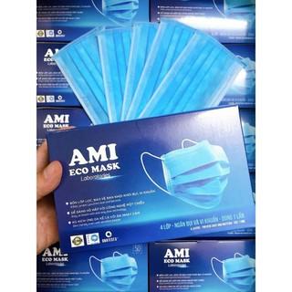 Khẩu trang y tế Ami eco mask 4 lớp kháng khuẩn (50 chiếc 1 hộp) 7
