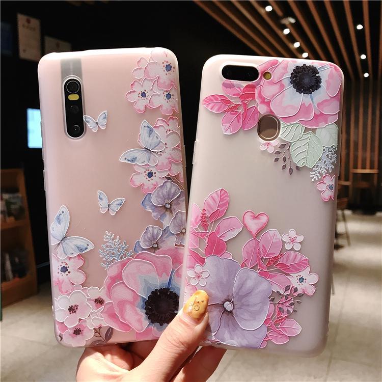VIVO V15 Pro Y91 Y95 Y71 Y81 V5 Y65 V7 P Pink Girl elegant soft case