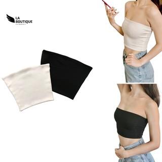 Áo ống nữ trơn La Boutique croptop, chất thun gân co giãn 4 chiều, freesize dưới 60kg, basic dễ phối đồ thumbnail