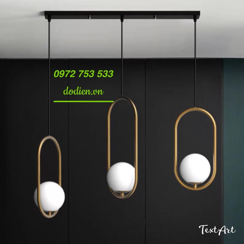 Đèn thả 3 đèn bàn ăn hiện đại đèn thủy tinh