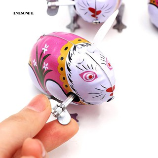 ♕Classic Tin Wind Up Clockwork Jumping Rabbit Toy Kids Hobby Collectible Gift