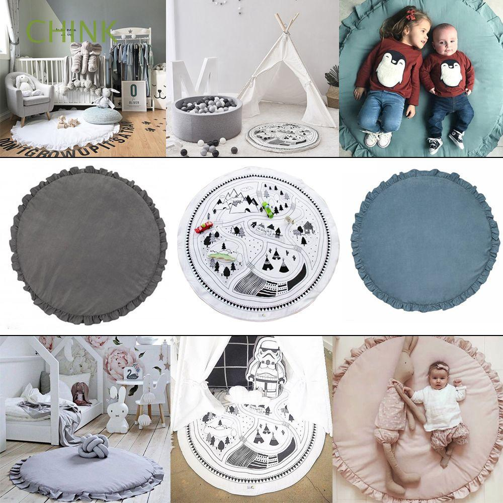 100cm Crawling Sleeping Newborn Infant Carton Animal Round Baby Play Mats