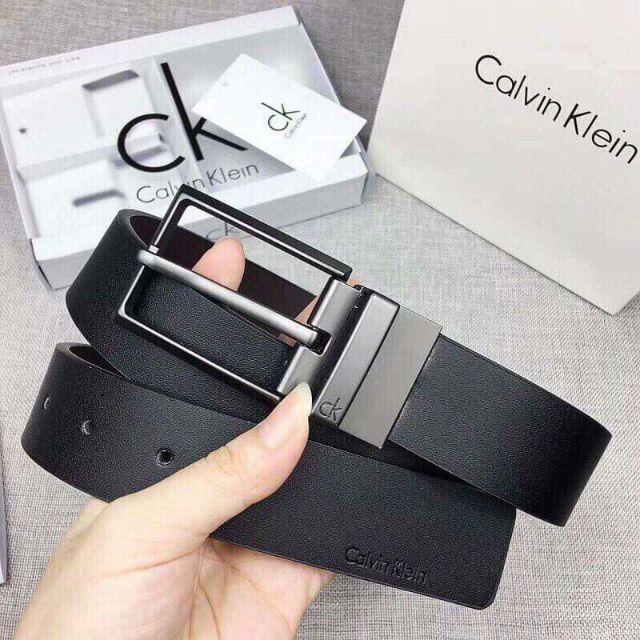 Thắt lưng , nịt da nam Calvin Klein 2 mặt sang trọng (full hộp túi xách như