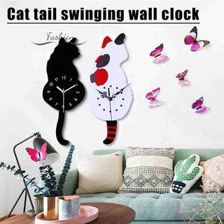 VN Đồng Hồ Treo Tường Hình Mèo Đáng Yêu