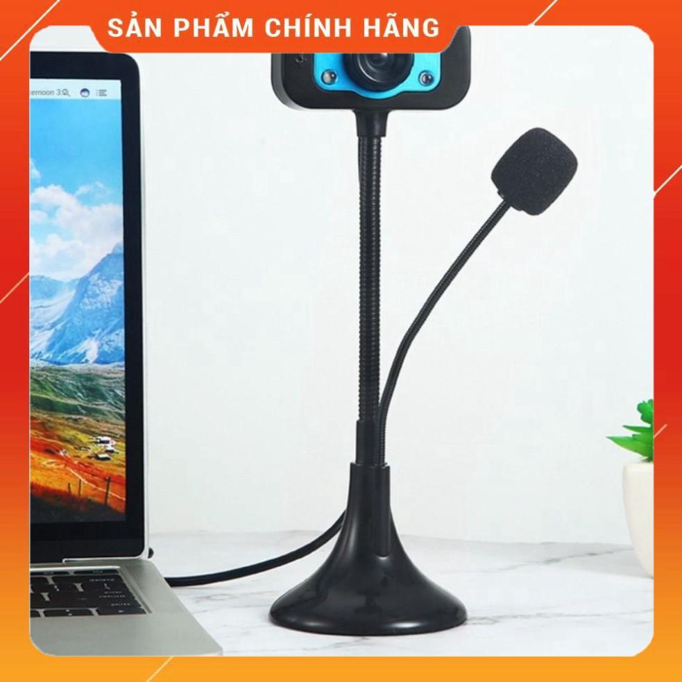 (Hot xả gốc) (học online) Webcam Chân Cao có mic dùng cho máy tính có tích hợp mic và đèn Led trợ sáng - Webcam máy tính