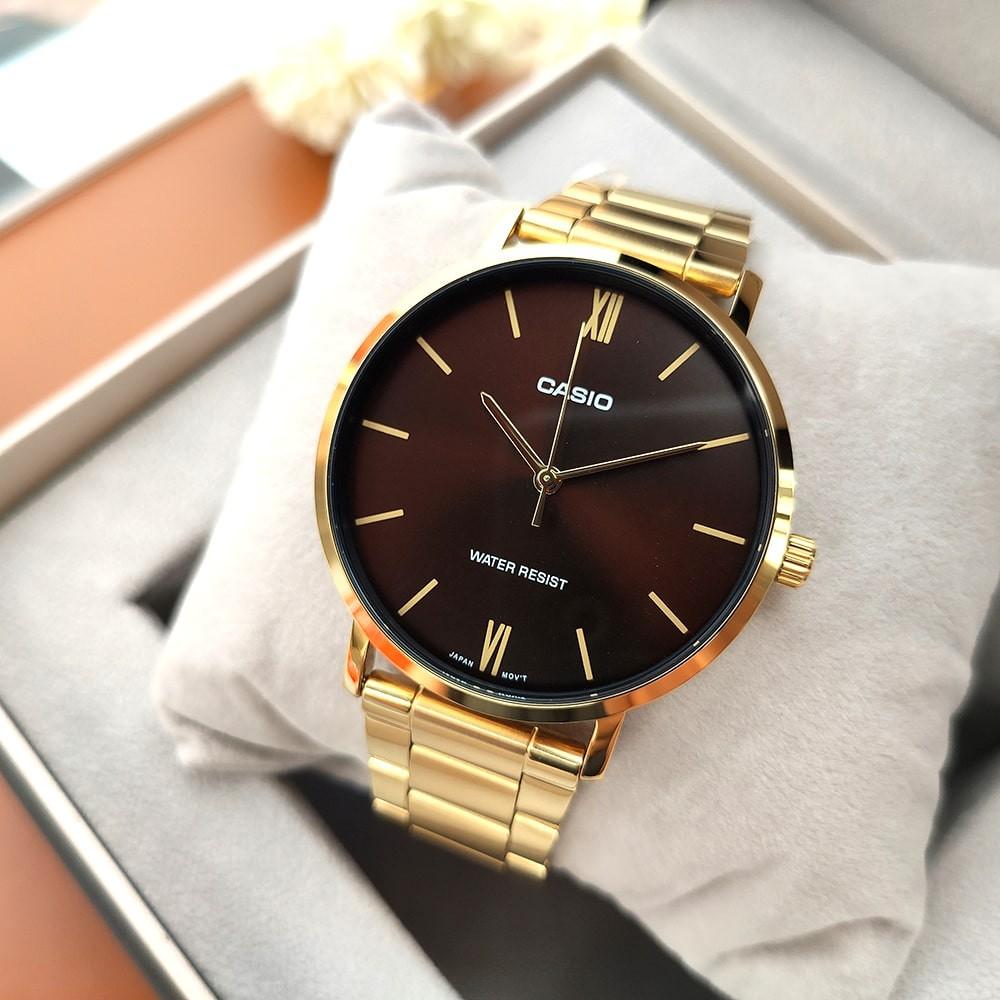 Đồng hồ nam dây kim loại Casio Anh Khuê MTP-VT01
