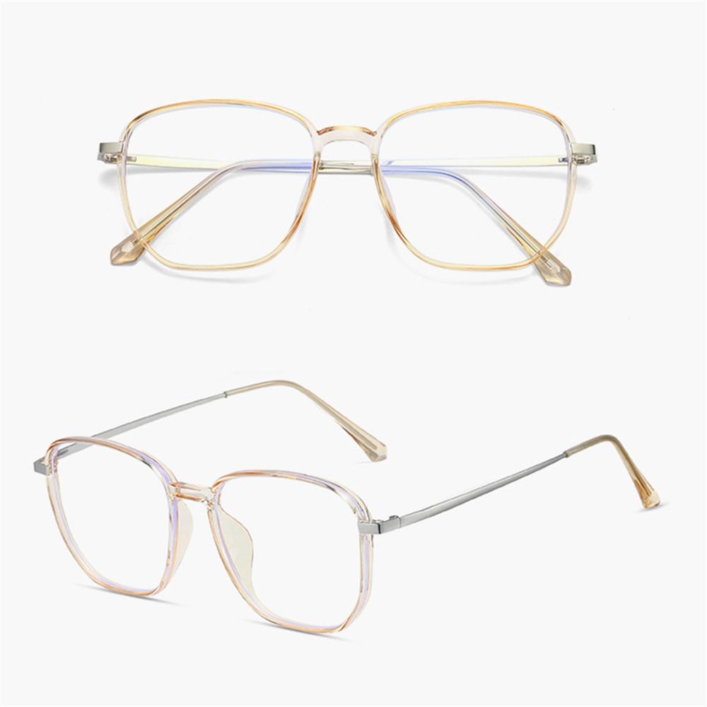 💋MAX Unisex Blue Light Blocking Glasses Vision Care Gaming Eyeglasses Office Computer Goggles Anti Eyestrain Square Frame Retro Eyewear Radiation...