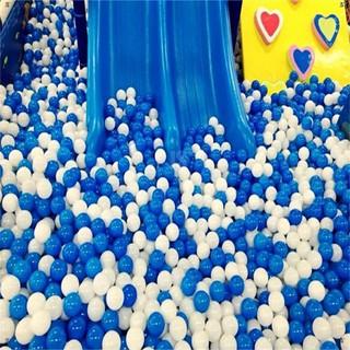 JS*10 White Blue Ball Soft PlaJSic Ocean Ball Funny Baby Kid Swim Pit Toy 7cm