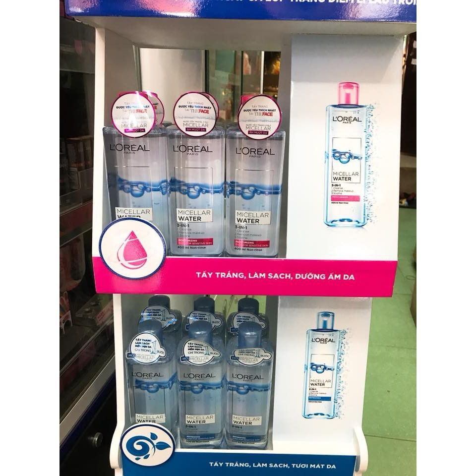 Nước Tẩy Trang Làm Sạch Sâu L'Oreal Micellar Water 3 In 1 Deep Cleansing