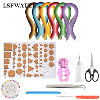 Quilling Strips Kit All -in-one 9 Pcs/Set Paper For DIY Quilling Strips Charm