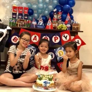Set sinh nhật nautical+ tặng 2 chibi