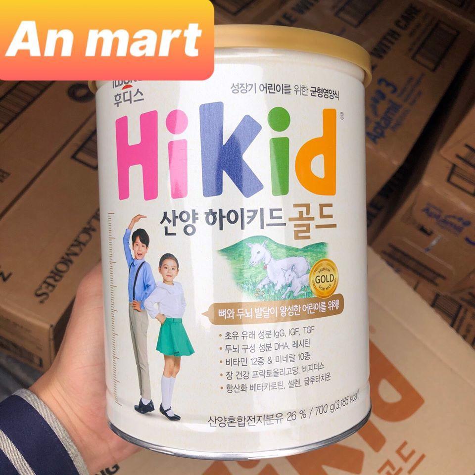 [Mã 267FMCGSALE giảm 8% đơn 500K] Sữa Hikid dê, Hikid bò nội địa Hàn quốc 700g