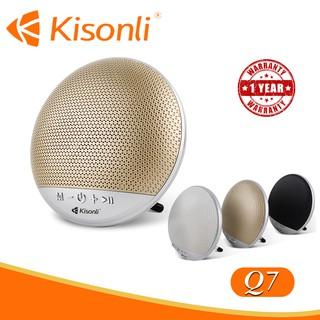 Loa Kisonli Bluetooth Q7 - Loa tròn nhỏ, ngộ nghĩnh, nhiều màu sắc (Màu ngẫu nhiên)