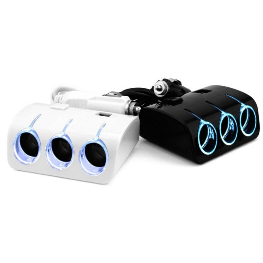Bộ chia tẩu thuốc ô tô ra 3 tẩu và 2 USB