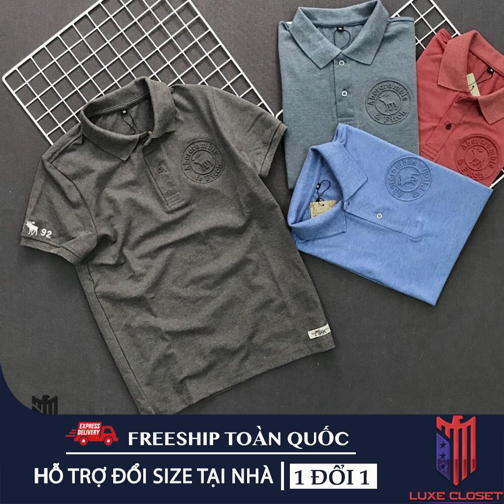 Áo thun nam tay ngắn logo dập nổi cao cấp AXK012 ( nhiều màu )