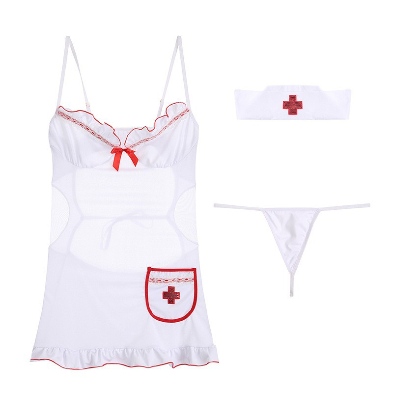 Mặc gì đẹp: Ngủ ngon hơn với Đồ ngủ sexy váy ngủ sexy cosplay nữ y tá xinh đẹp gợi cảm quyến rũ 471