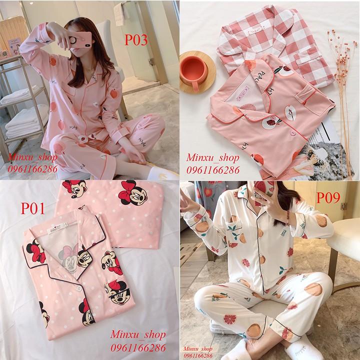 [Hàng Sẵn] Bộ Mặc Nhà Pijama Dài Tay - Phong Cách Hàn Quốc 2019 - Sợi Tơ Sữa Cao Cấp Mềm, Mịn - Siêu Dễ Thương