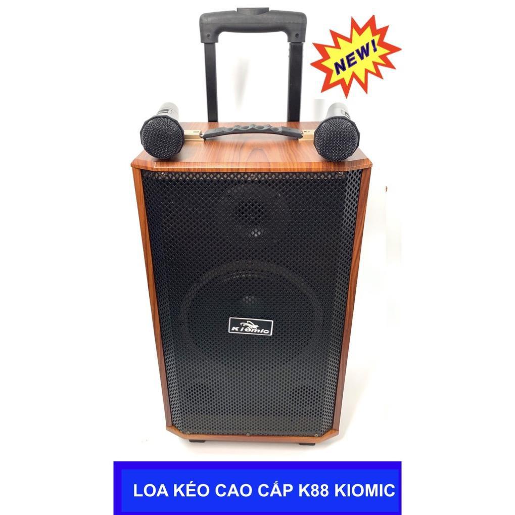 CÓ SẴN] Loa Vali Kéo Di Động Karaoke Bluetooth Kiomic K88 Âm Thanh Siêu  Đỉnh(Tặng 2 micro không dây hát cực hay K-88)
