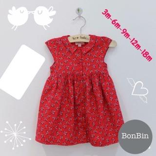 Váy hoa nhí đỏ
