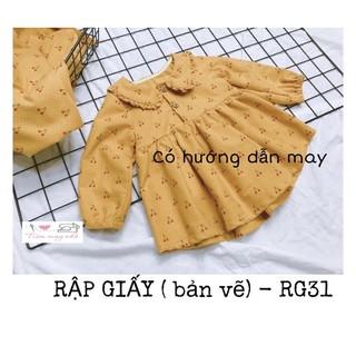 RẬP GIẤY (bản vẽ)_RG31 _ rập váy cổ sen dài tay