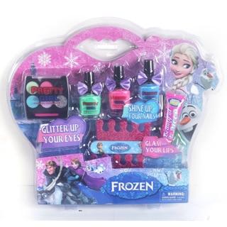 [Mã TOYJAN hoàn 20K xu đơn 50K] Bộ trang điểm phấn thật, sơn móng tay Elsa Barbie (trang điểm và sơn móng tay)