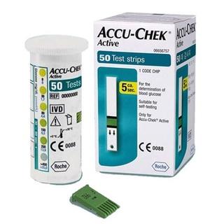 [Chính hãng] Hộp 50 que thử đường huyết tiểu đường Accu-Chek Active, Tem niêm yết, Nhãn phụ Tiếng Việt thumbnail