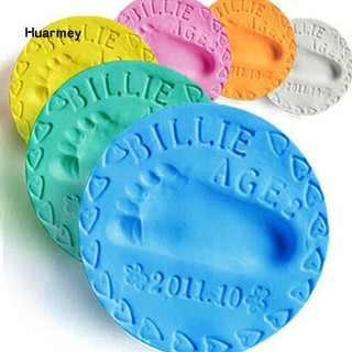 ★Hu 2 Pack Air Drying Soft Clay Baby Handprint Footprint Imprint Casting Record Growing