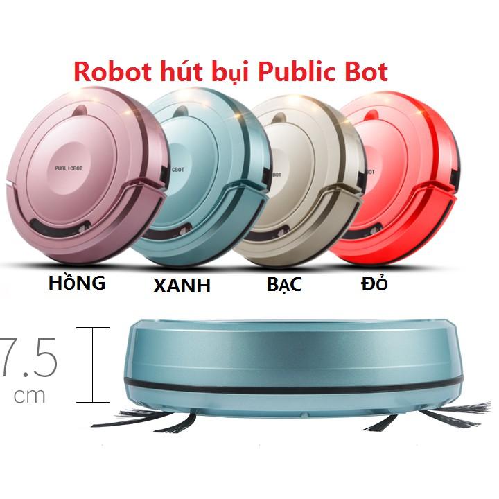 Robot hút bụi kết hợp lau nhà thông minh PUBLIC BOT X6-CÓ CẢM BIẾN VA ĐẬP