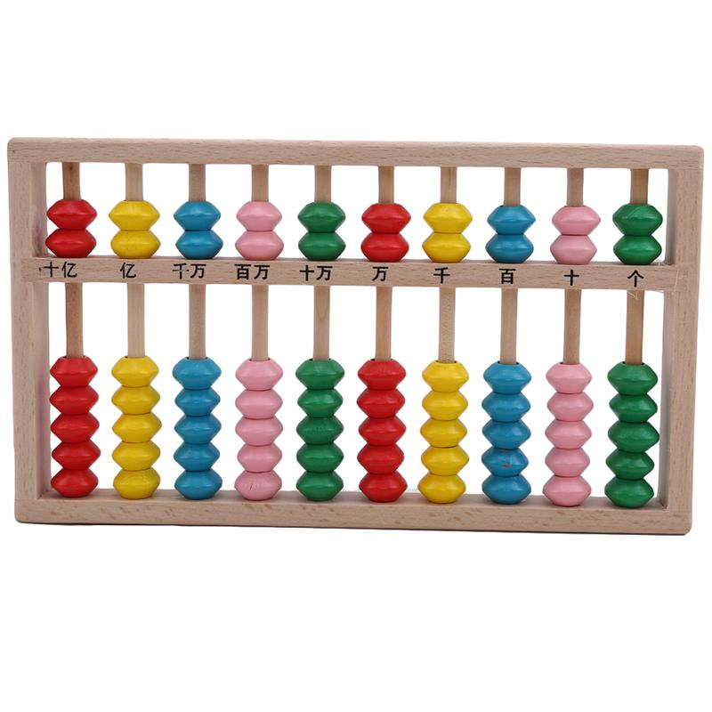 Preschool Baby Wooden Abacus Beads Counting Number Math Learning Teaching Aid Toy