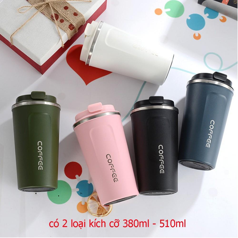 [ KHUYẾN MÃI ] Cốc coffe giữ nhiệt có 2 lớp cách nhiệt an toàn tiện lợi  kích cỡ 380ml-510ml