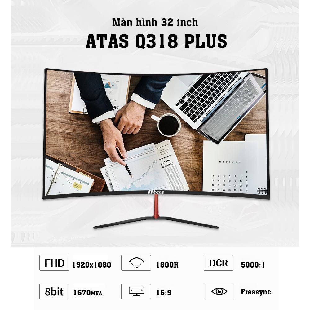 Màn hình máy tính 32 inch cong chuyên game ATAS Q318 Plus - Tần số 165HZ