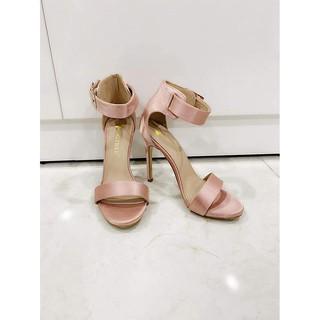 Giày cao gót quai ngang màu hồng