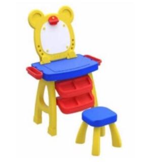 Bộ bàn ghế – bảng học nam châm, bảng vẽ 3in1 cho bé
