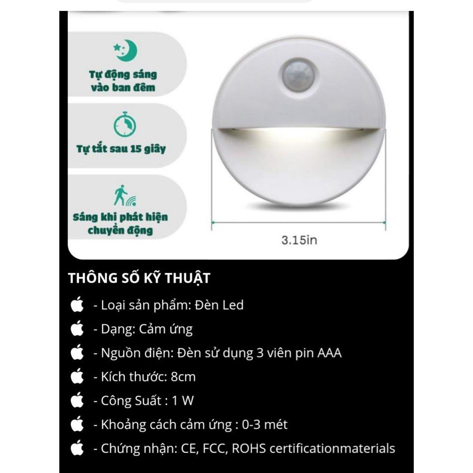 Đèn LED Cảm Ứng Sử Dụng Pin Tự Động Phát Sáng Khi Có Người Di Chuyển