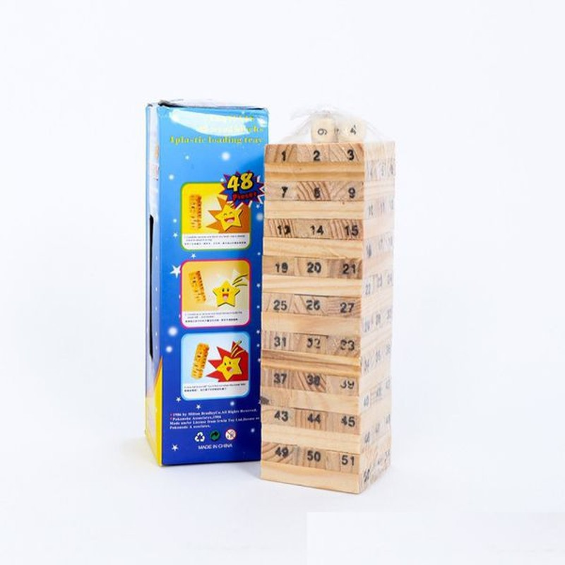 Đồ Chơi Rút Gỗ Wish Toy Cho Bé (48 thanh)