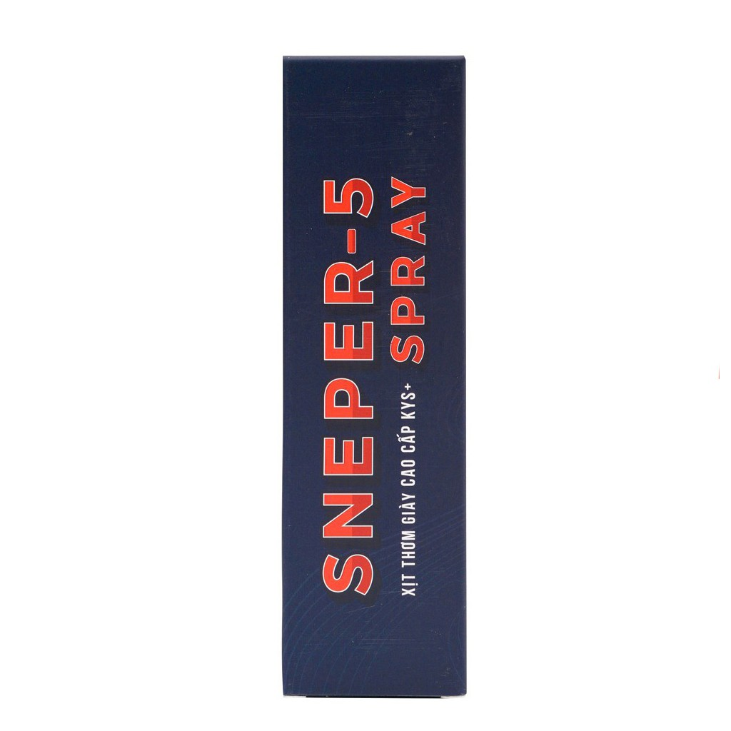 Xịt thơm giày cao cấp Sneper-5 KYS+ hương nước hoa khử mùi hôi, khử khuẩn