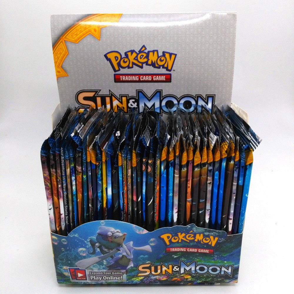 Pokemon Sun Moon Booster Box Trading Cards TCG Party Game GX Children Boys Toys