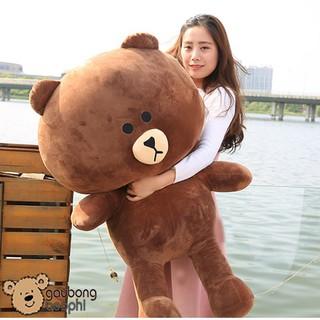 Gấu Brown màu socola khổ vải 1M2, món quà tặng không thể thiếu dành cho các bạn gái
