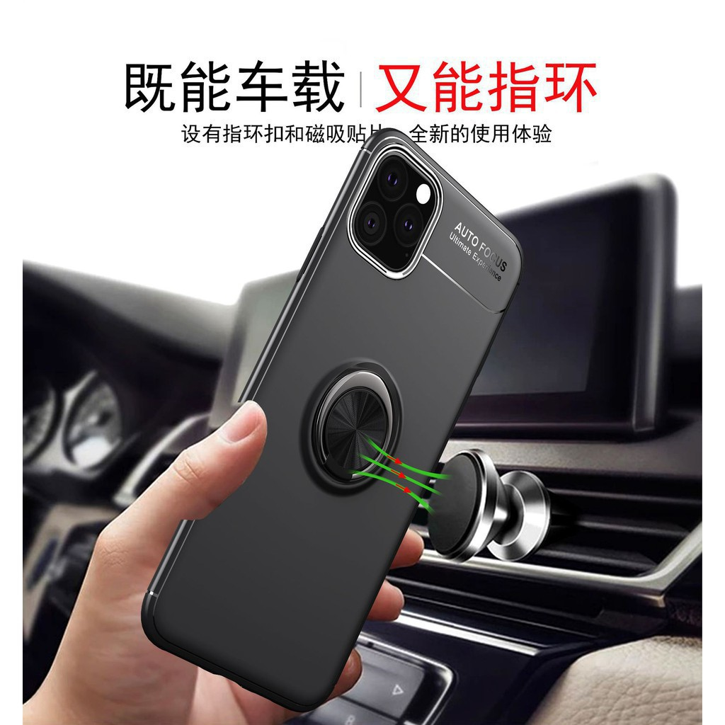 WT iphone 11 case iPhone 11/11 Pro/11 Pro Max Luxury Magnetic Bracket Ring Car Soft Case Anti-knock Cover