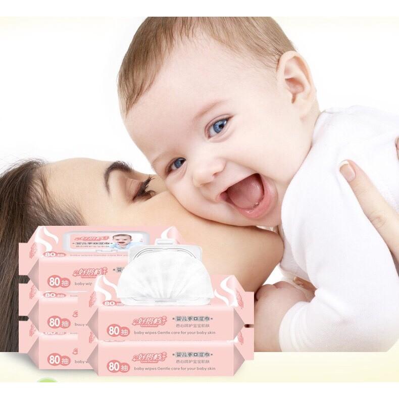 Khăn giấy ướt Good Partner 80 tờ tiết kiệm và tiện dụng cho bé